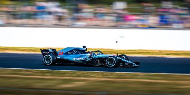 F1-Reifen. Ein Einsitzer.